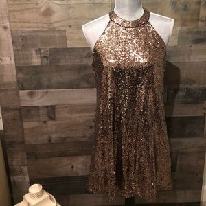 One ❤️ Clothing Gold Sequin Dress
